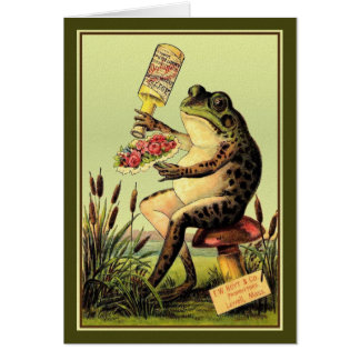 Frog Perfumes a Bouquet, Card