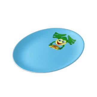Frog plate porcelain plate