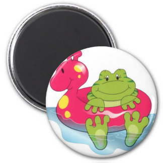 Frog Pool Time Magnet