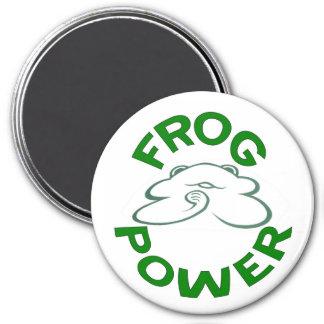 Frog Power Fridge Magnet