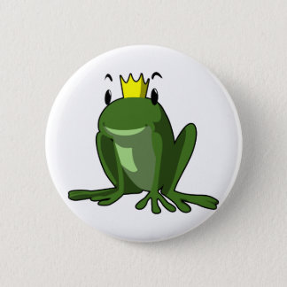 Frog Prince 2 Inch Round Button