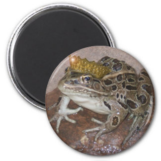Frog Prince 2 Inch Round Magnet