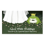 Frog Prince and Bride - Fairy Tale Wedding Business Card