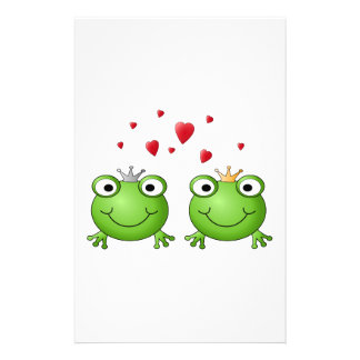 Frog Prince and Frog Princess with hearts Flyer
