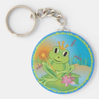 Frog Prince Basic Round Button Keychain