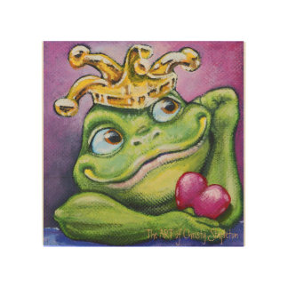 """Frog Prince by TACS 8"""" x 8"""" wood wall art Wood Canvases"""