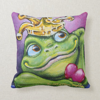 Frog Prince by TACS square throw pillow