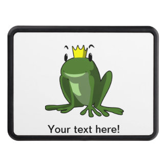 Frog prince cartoon trailer hitch cover