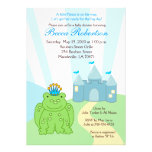 Frog PRINCE Castle Baby Shower 5x7 Invitation