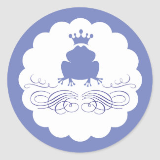 Frog Prince Charming Classic Round Sticker