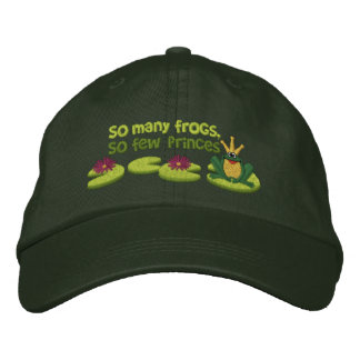 Frog Prince Embroidered Hat