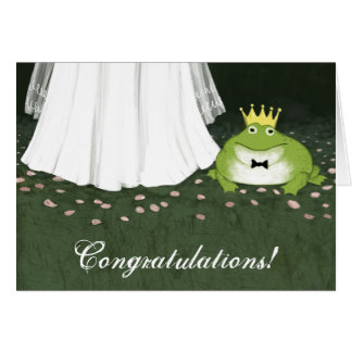 Frog Prince Fairy Tale Wedding Congratulations Card