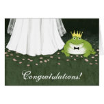 Frog Prince Fairy Tale Wedding Congratulations Greeting Card