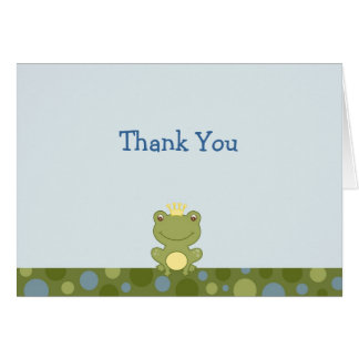 Frog Prince Froggy Thank You Note Cards