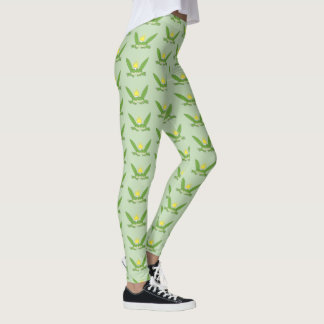 Frog Prince Funny Cartoon Cute Charming Green Chic Leggings