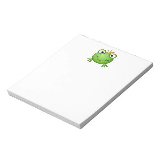 Frog Prince. Happy Frog. Notepad