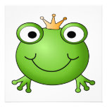Frog Prince. Happy Frog. Personalized Invite