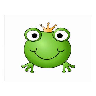 Frog Prince. Happy Frog. Postcard