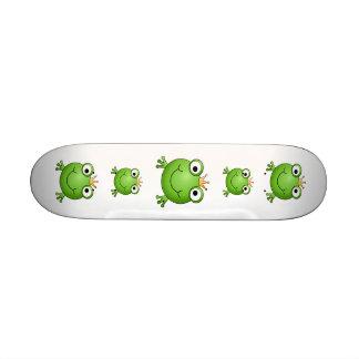 Frog Prince. Happy Frog. Skateboards