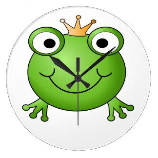 Frog Prince. Happy Frog. Wallclock