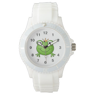 Frog Prince. Happy Frog. Wristwatch