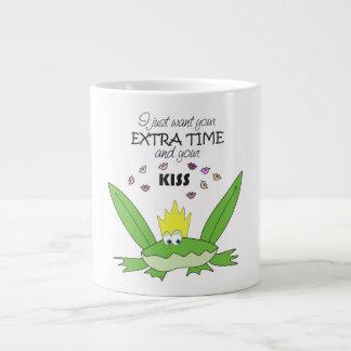 Frog Prince Kiss Funny Cute Cartoon Love Song Chic Large Coffee Mug