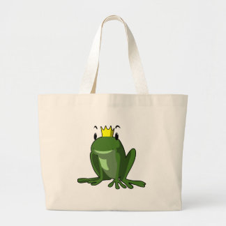 Frog Prince Large Tote Bag