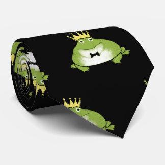 Frog Prince Pattern Tie