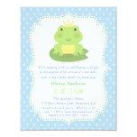 Frog Prince Polka Dots Baby Shower Invitations