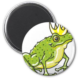 Frog Prince Princess Sketch 2 Inch Round Magnet