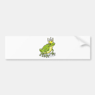 Frog Prince Princess Sketch Bumper Sticker