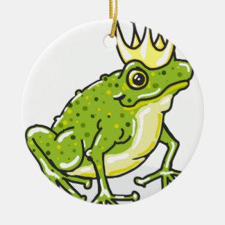 Frog Prince Princess Sketch Ceramic Ornament