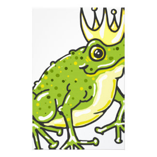 Frog Prince Princess Sketch Customized Stationery