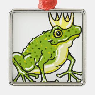 Frog Prince Princess Sketch Metal Ornament