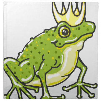 Frog Prince Princess Sketch Napkin