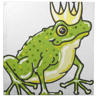 Frog Prince Princess Sketch Printed Napkin