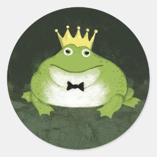 Frog Prince Round Sticker