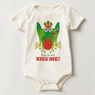 Frog Prince Shut Up and Kiss Me! Baby Bodysuit