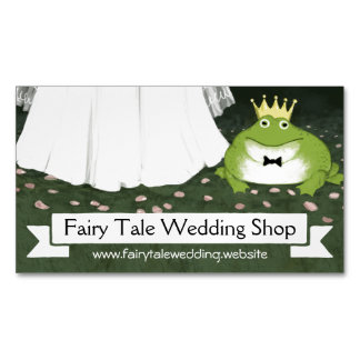 Frog Prince with Bride | Fairy Tale Wedding Business Card Magnet