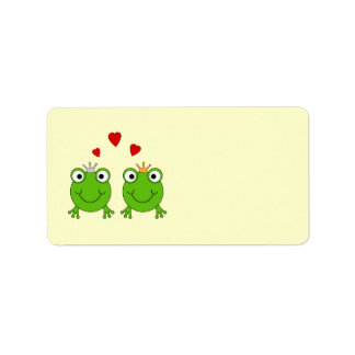 Frog Princess and Frog Prince, with hearts.