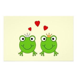 Frog Princess and Frog Prince, with hearts. Custom Flyer