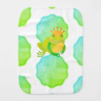 Frog Princess Burp Cloth