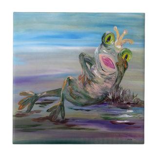 Frog Princess Ceramic Tile