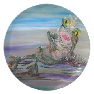 Frog Princess Dinner Plate