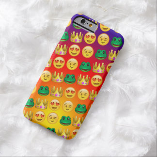 Frog & Princess Emojis Pattern Barely There iPhone 6 Case