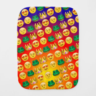 Frog & Princess Emojis Pattern Burp Cloth