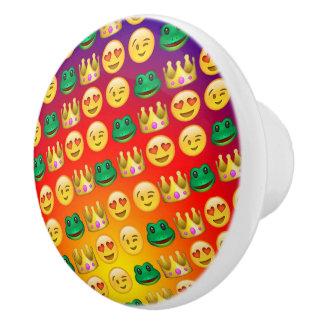 Frog & Princess Emojis Pattern Ceramic Knob