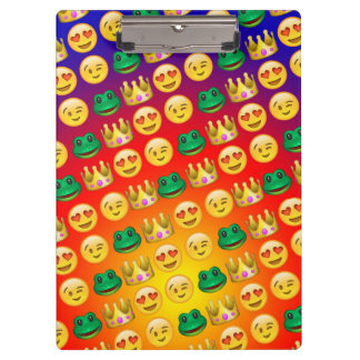 Frog & Princess Emojis Pattern Clipboard