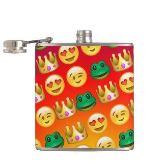 Frog & Princess Emojis Pattern Hip Flask