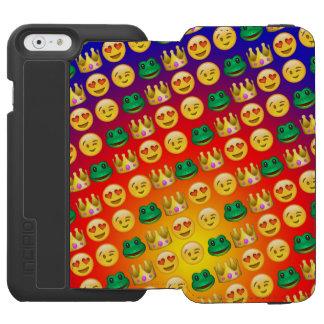 Frog & Princess Emojis Pattern Incipio Watson™ iPhone 6 Wallet Case